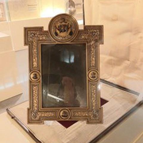 Frame with damascening by Felipa Guisasola