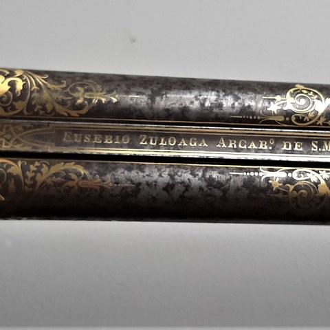 Escopeta damasquinada Eusebio Zuloaga (1864)