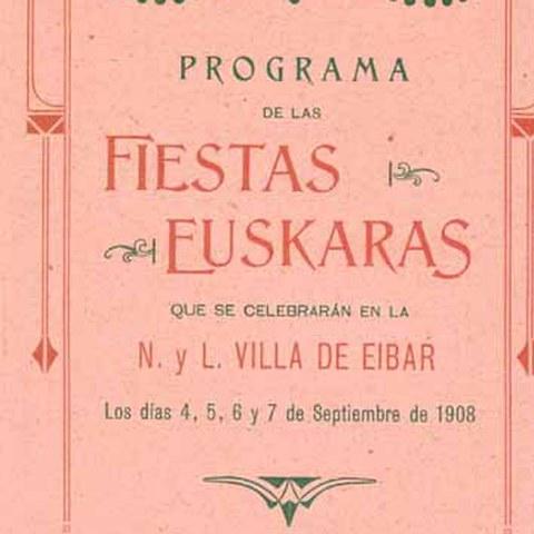 Exposición Fiestas Euskaras. Eibar1908