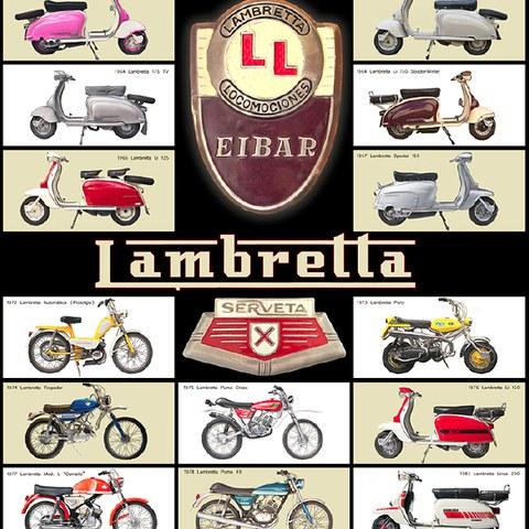 VI. Concentración Lambretta en Eibar y poster especial