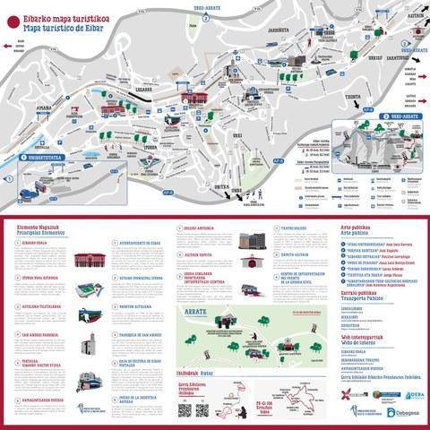 El Ayuntamiento de Éibar ha diseñado un mapa turístico