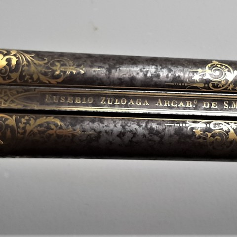 Carabine damasquinée Eusebio Zuloaga (1864)